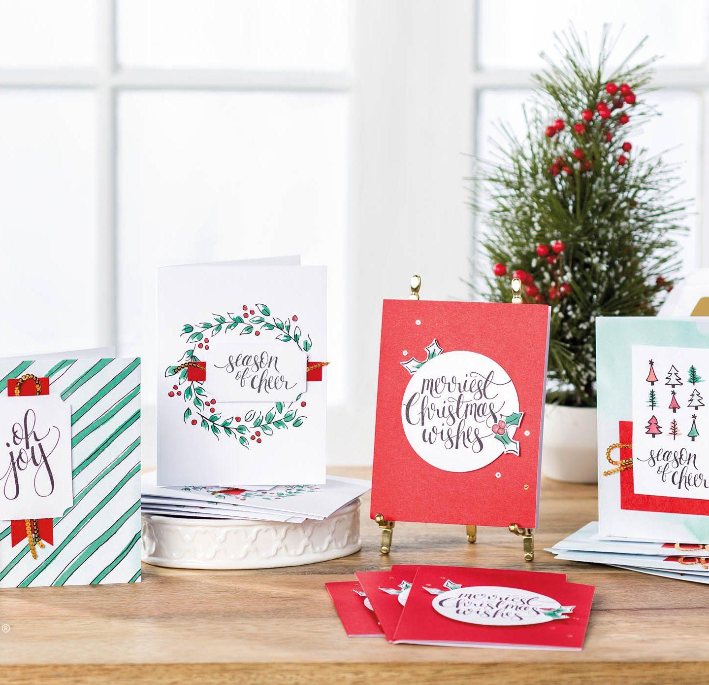 Watercolor Christmas Card Kit