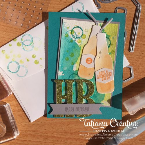 Tatiana Creative Stamping Adventure Male Birthday Card using the Bubble Over Bundle by Stampin' Up!®