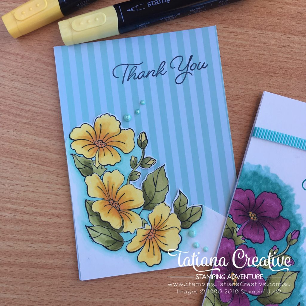 Tatiana Creative Stamping Adventure floral cards using Stampin' Blends and the Blended Seasons stamp set both by Stampin' Up!®