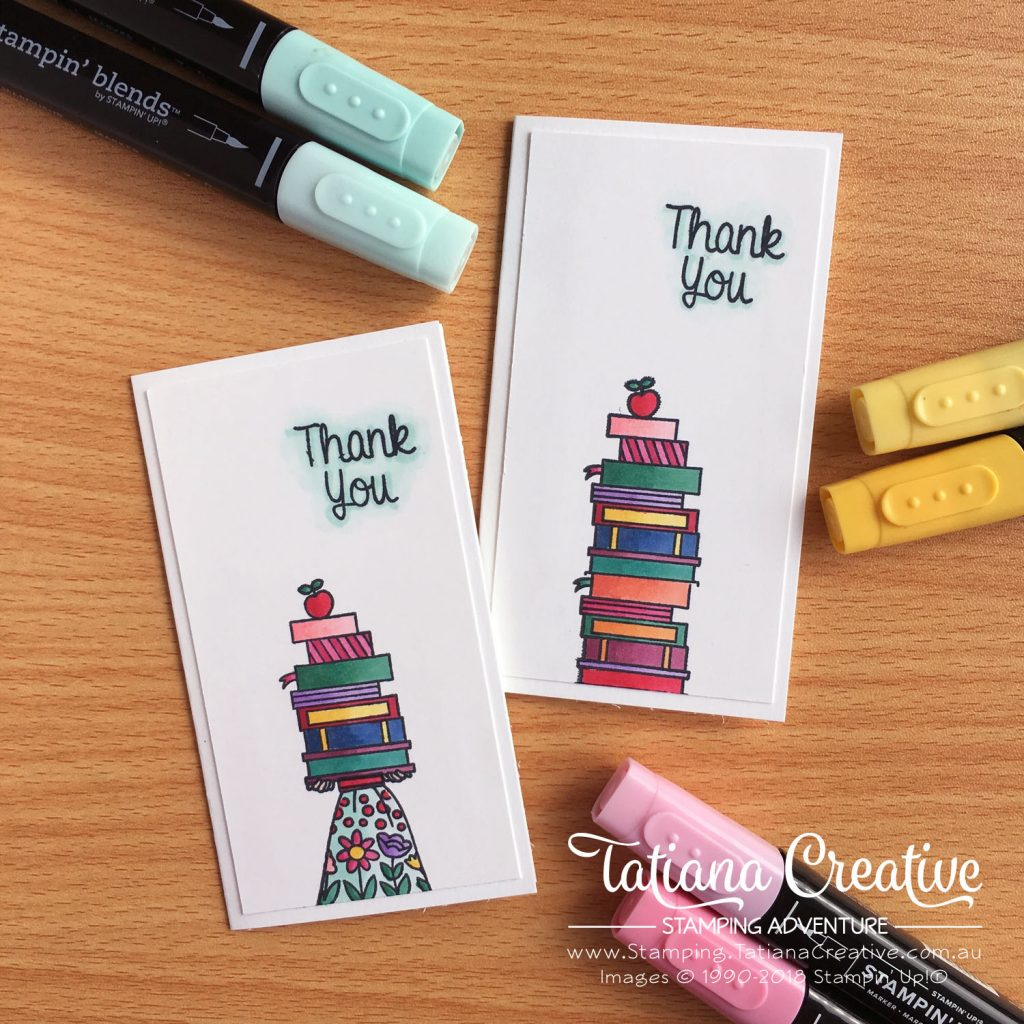 Tatiana Creative Stamping Adventure Teacher Thank you cards using Hand Delivered stamp set by Stampin' Up!®