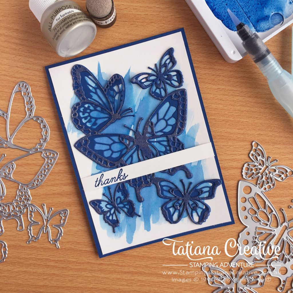 Tatiana Creative Stamping Adventure - Thank You butterfly card using the Beauty Abounds Bundle by Stampin' Up!®