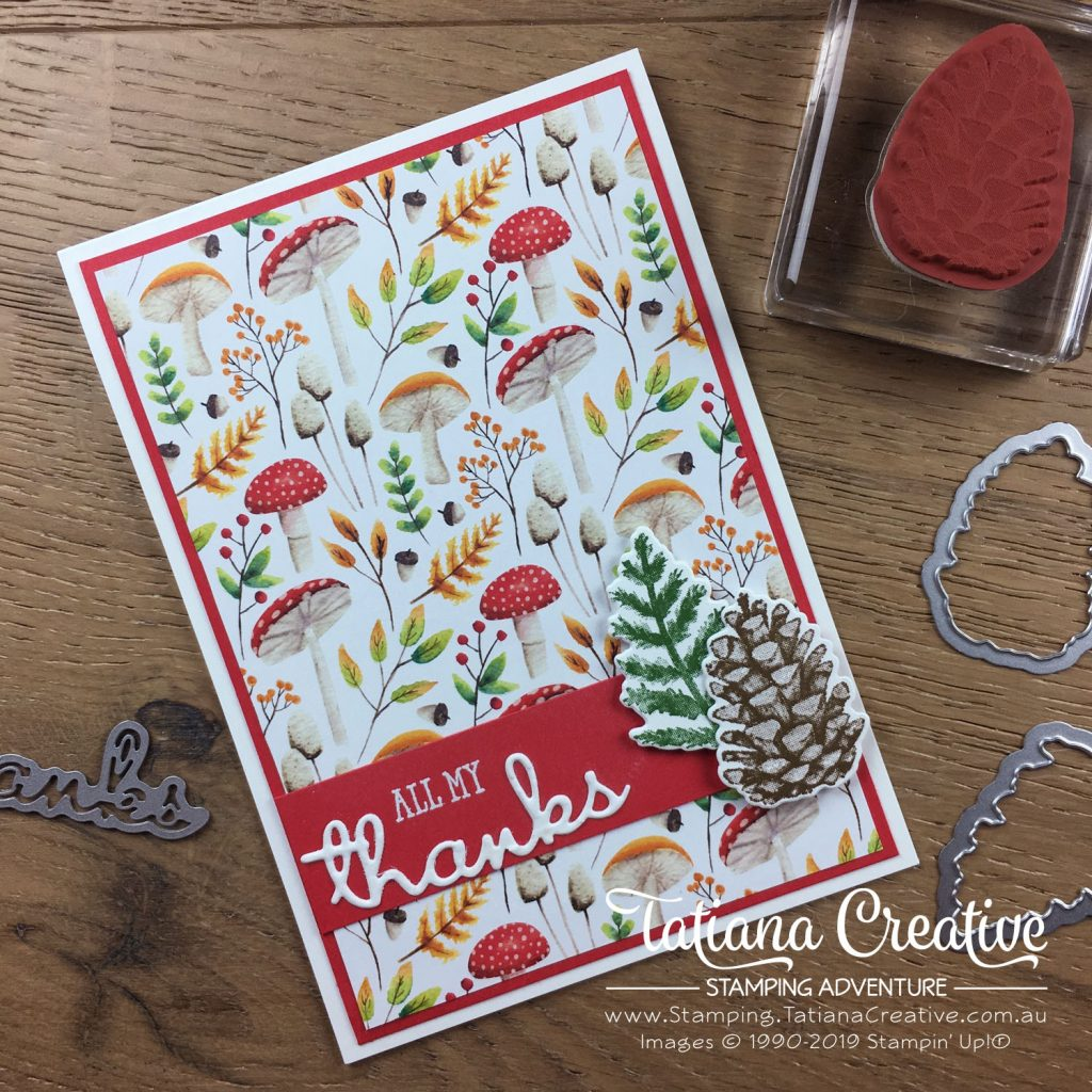 Tatiana Creative Stamping Adventure - Thank You Card using the Sale-A-Bration Painted Seasons bundle and the Well Said bundle both by Stampin' Up!®
