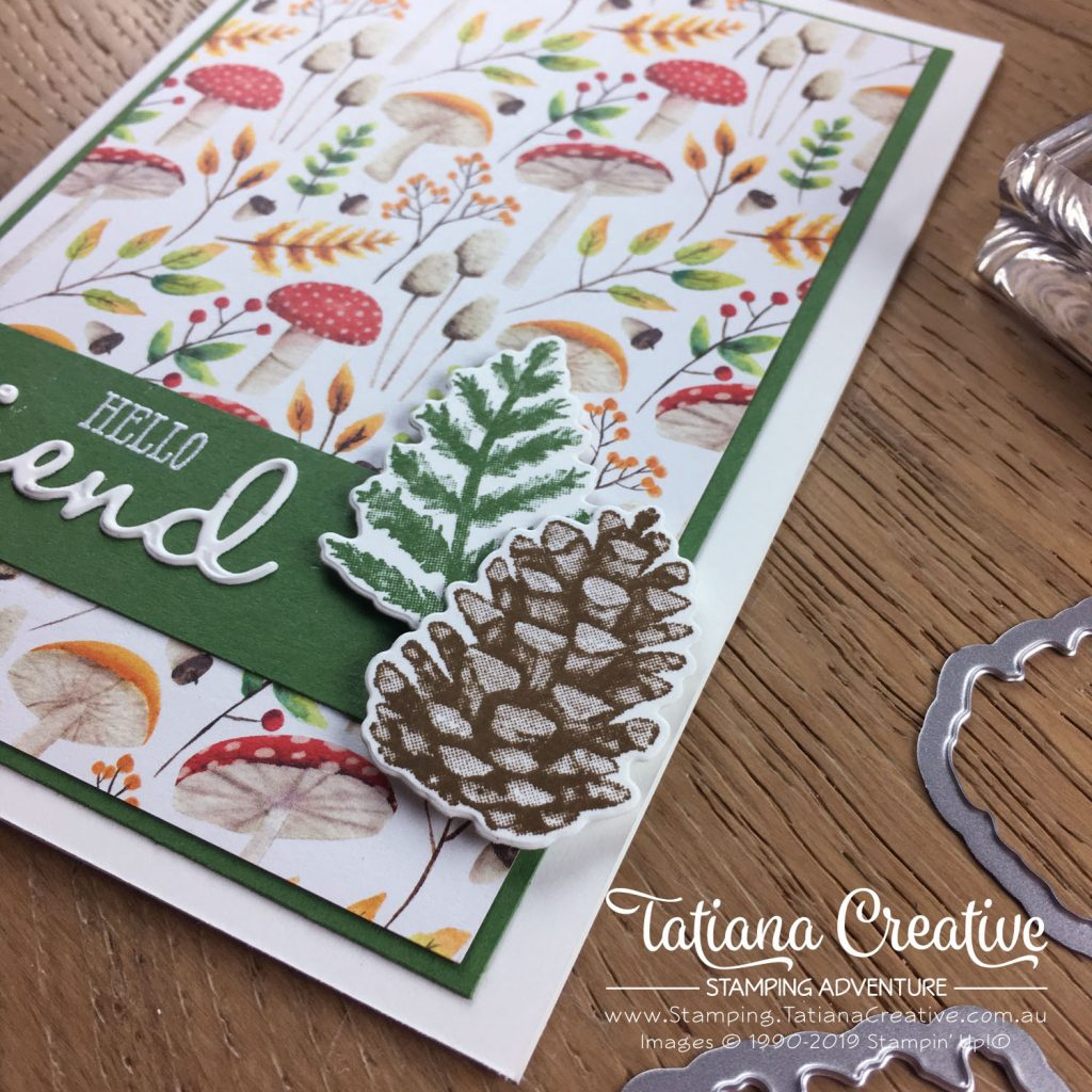 Tatiana Creative Stamping Adventure - Friendship Card using the Sale-A-Bration Painted Seasons bundle and the Well Said bundle both by Stampin' Up!®
