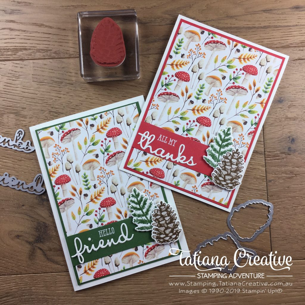 Tatiana Creative Stamping Adventure - Friendship and Thank You Cards using the Sale-A-Bration Painted Seasons bundle and the Well Said bundle both by Stampin' Up!®