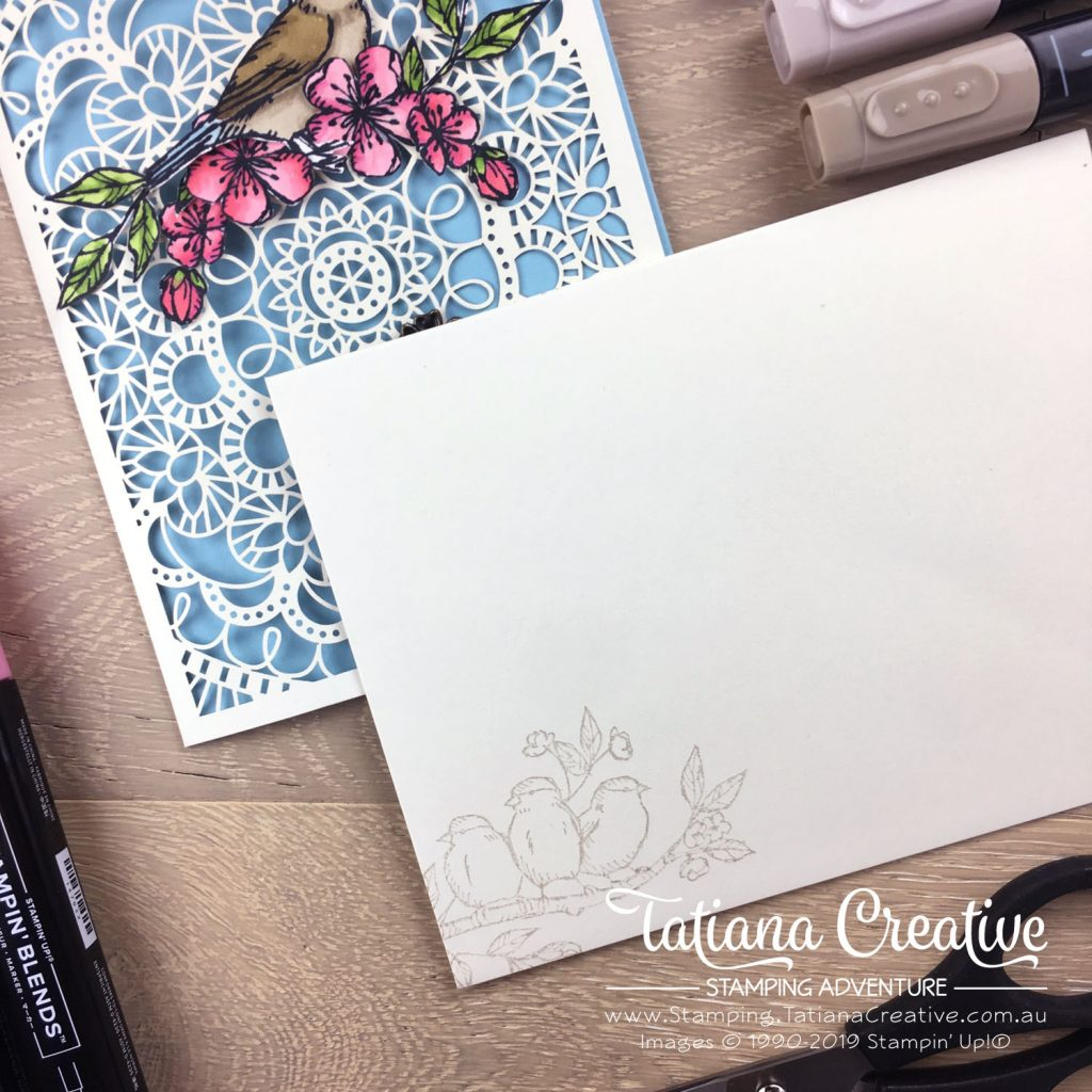 Tatiana Creative Stamping Adventure - Friendship card using the Bird Ballad Laser-Cut Cards and Free As A Bird stamp set both by Stampin' Up!®