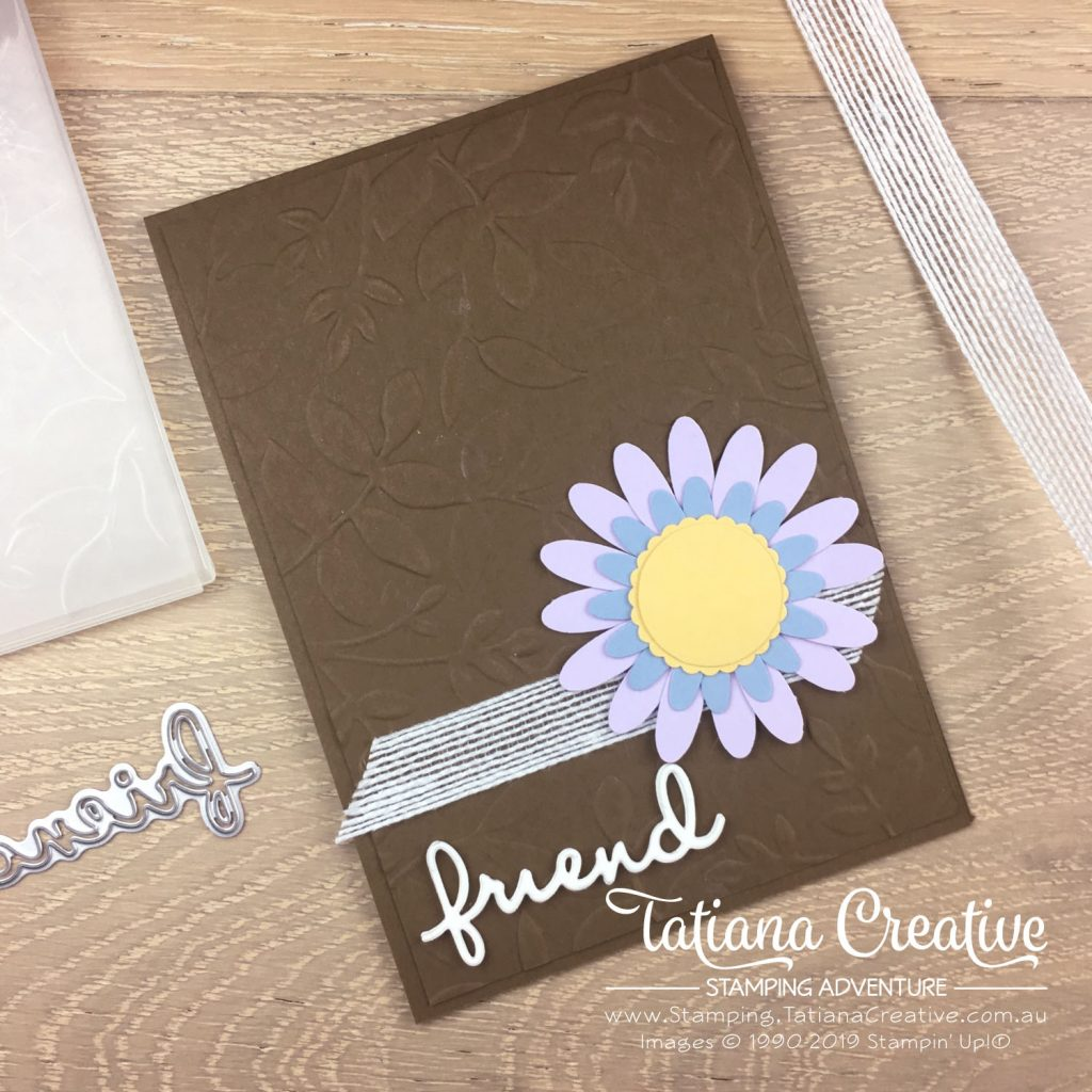 Tatiana Creative Stamping Adventure - Flower Punch Out card using the Medium Daisy Punch and Daisy Punch both by Stampin' Up!®