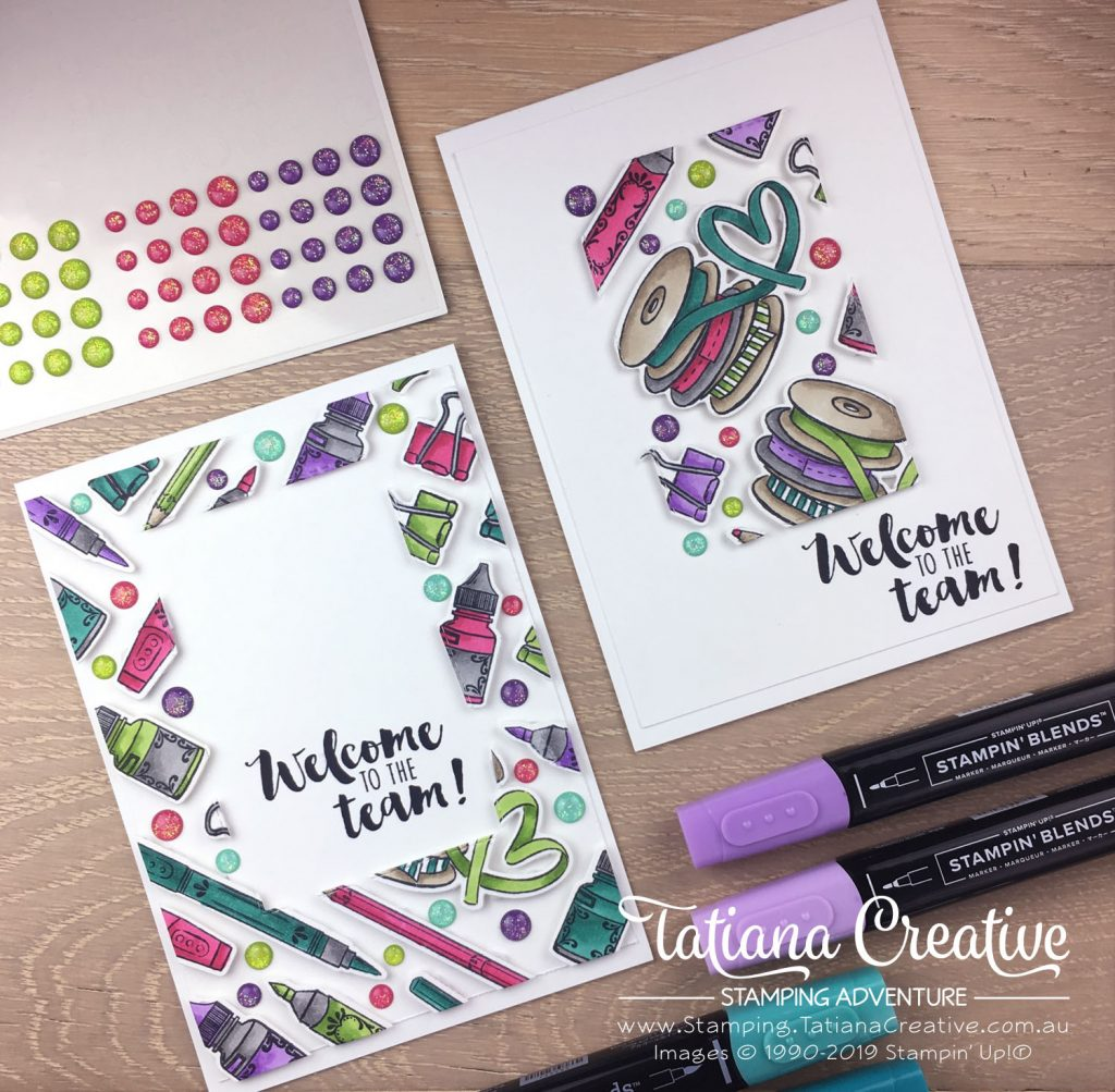 Tatiana Creative Stamping Adventure - Welcome To The Team cards using the It Starts With Art stamp set by Stampin' Up!®