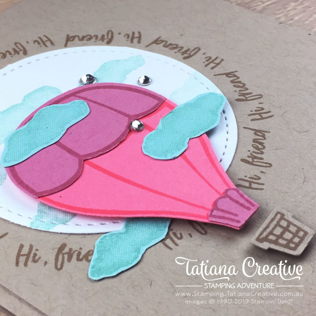 Tatiana Creative Stamping Adventure - CASEd Hi Friend card using the Above The Clouds Bundle by Stampin' Up!®