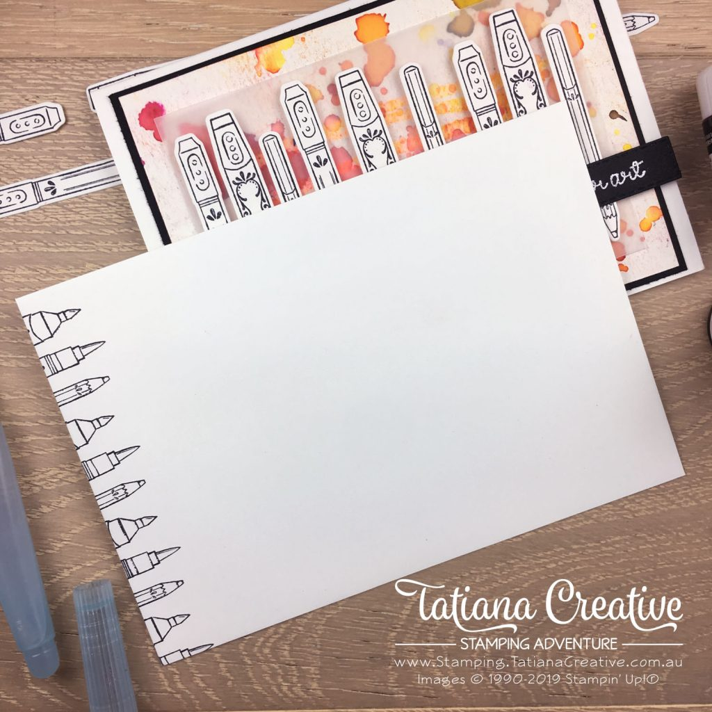 Tatiana Creative Stamping Adventure - Arty cards using the It Starts With Art stamp set and Pigment Sprinkles both by Stampin' Up!®