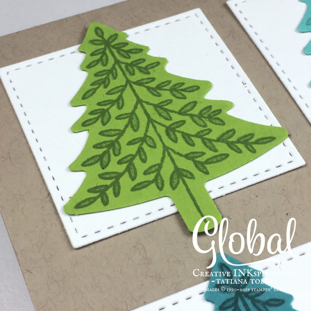 Tatiana Creative Stamping Adventure - Bright Christmas Trees Card using the Perfectly Plaid stamp set by Stampin' Up!®