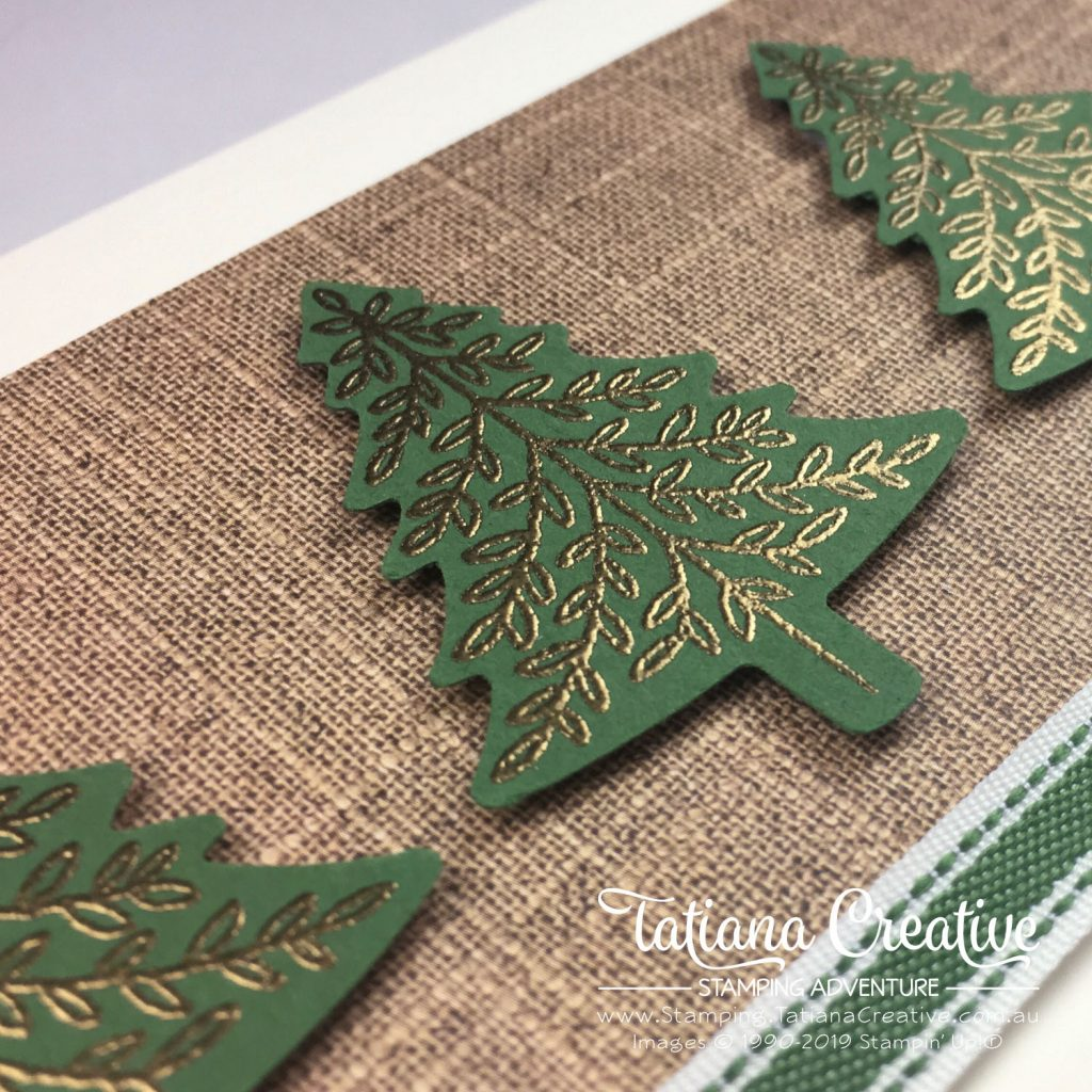 Tatiana Creative Stamping Adventure - Christmas Tree Card using the Perfectly Plaid stamp set by Stampin' Up!®