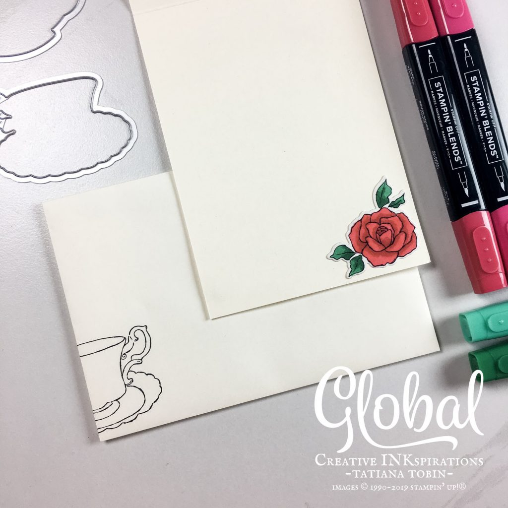 Global Creative INKspirations - Tatiana Creative Stamping Adventure - Sweet Tea Christmas Card using Itty Bitty Christmas and Tea Time stamp sets from Stampin' Up!®