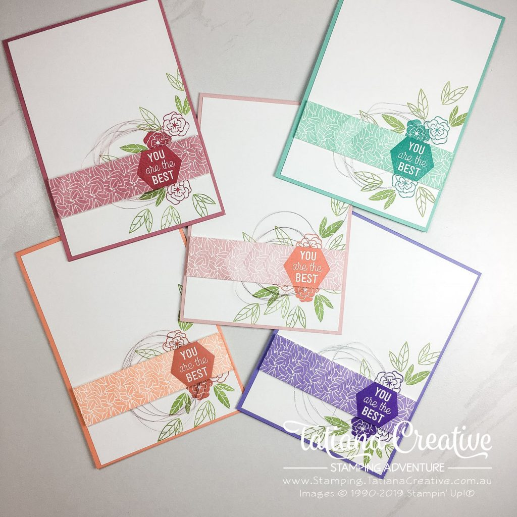 Tatiana Creative Stamping Adventure - You Are The Best cards for friends using the Believe You Can  hostess stamp set from Stampin' Up!®