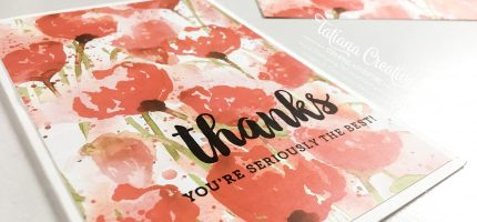 Poppy Thanks – Super Easy Card