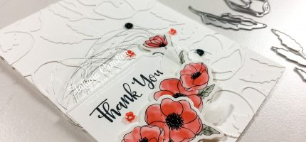 Creativity Time – Faux Embossing Poppy Card