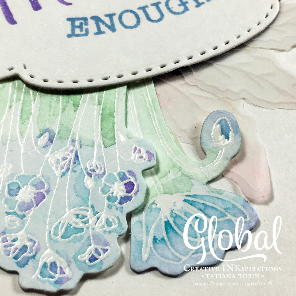 Tatiana Creative Stamping Adventure - Blue Poppy Thank You card using the So Sentimental Bundle and Peaceful Poppies Elements both by Stampin' Up!®
