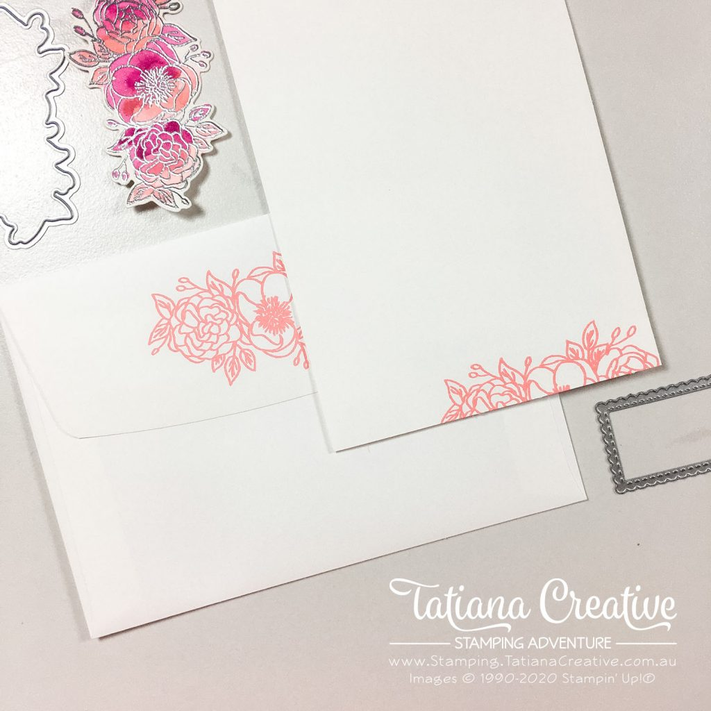 Tatiana Creative Stamping Adventure - Floral Hello Card using the Bloom & Grow Bundle and Peaceful Poppies DSP by Stampin' Up!®