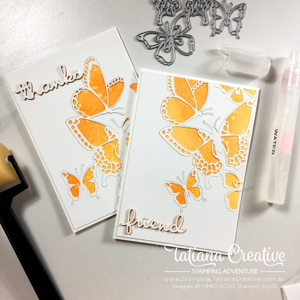 Tatiana Creative Stamping Adventure - Butterfly Inlay Card using the Butterfly Beauty Dies by Stampin' Up!®