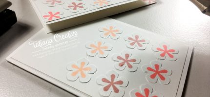 Creativity Time – Small Bloom Punch Note Cards