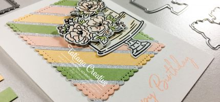 Scrap Stripy Floral Birthday Card