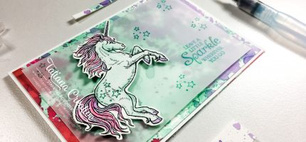 Creativity Time – Ink Smoosh Unicorn Card
