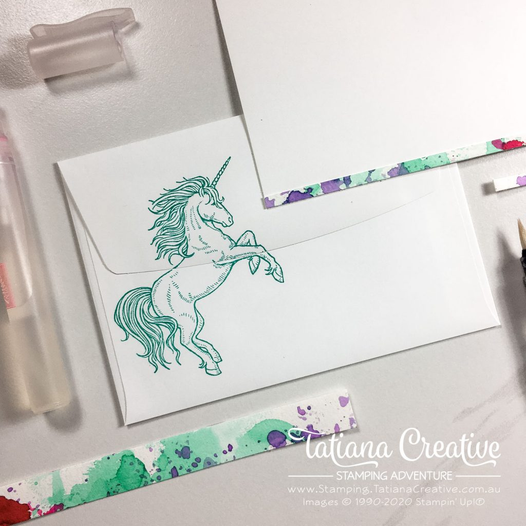 Tatiana Creative Stamping Adventure - Ink Smoosh Unicorn card using the Leave A Little Sparkle stamp set by Stampin' Up!®