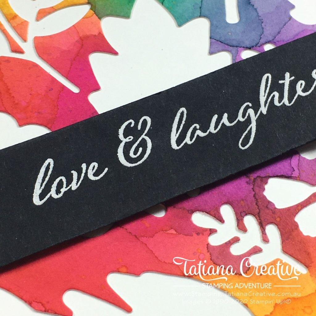 Tatiana Creative Stamping Adventure - Love Watercolour card using Forever Fern bundle by Stampin' Up!®