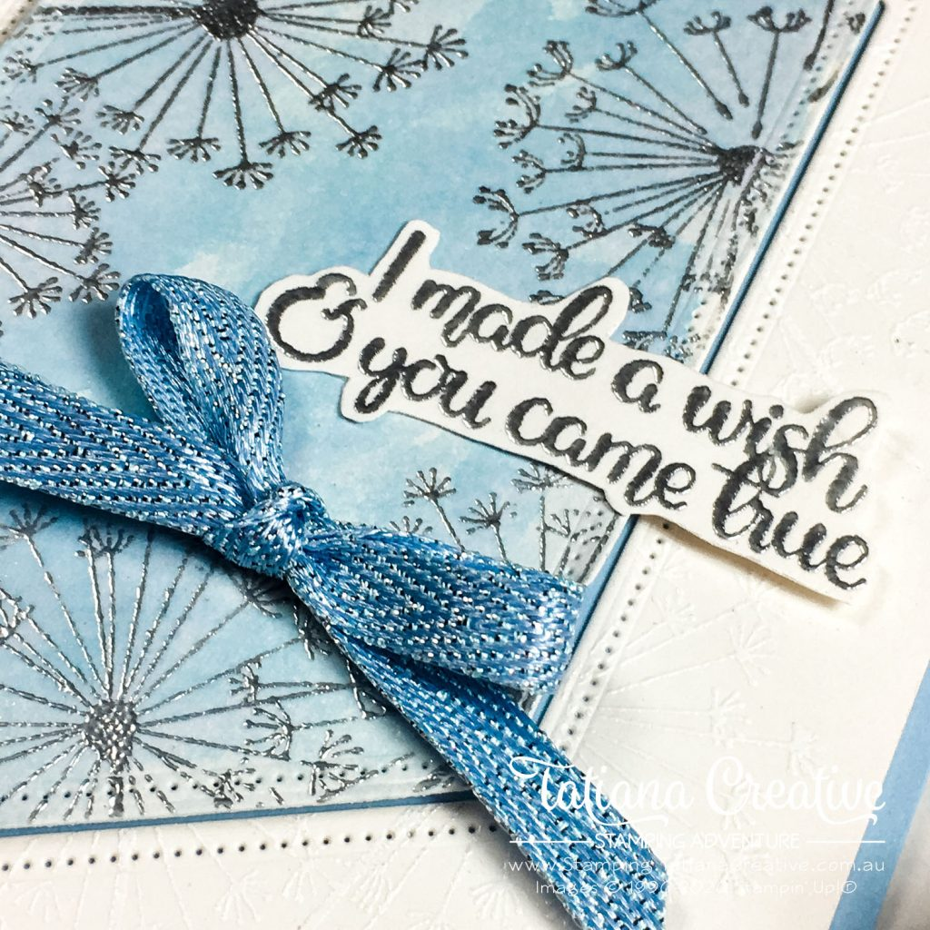 Tatiana Creative Stamping Adventure - Watercolour Dandelion Wishes card using Dandelion Wishes stamp set by Stampin' Up!®