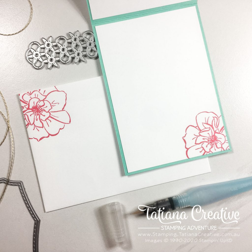 Tatiana Creative Stamping Adventure - Stamped Water Colouring Technique or Cheat's Watercoloring Friendship card using To A Wild Rose stamp set by Stampin' Up!®