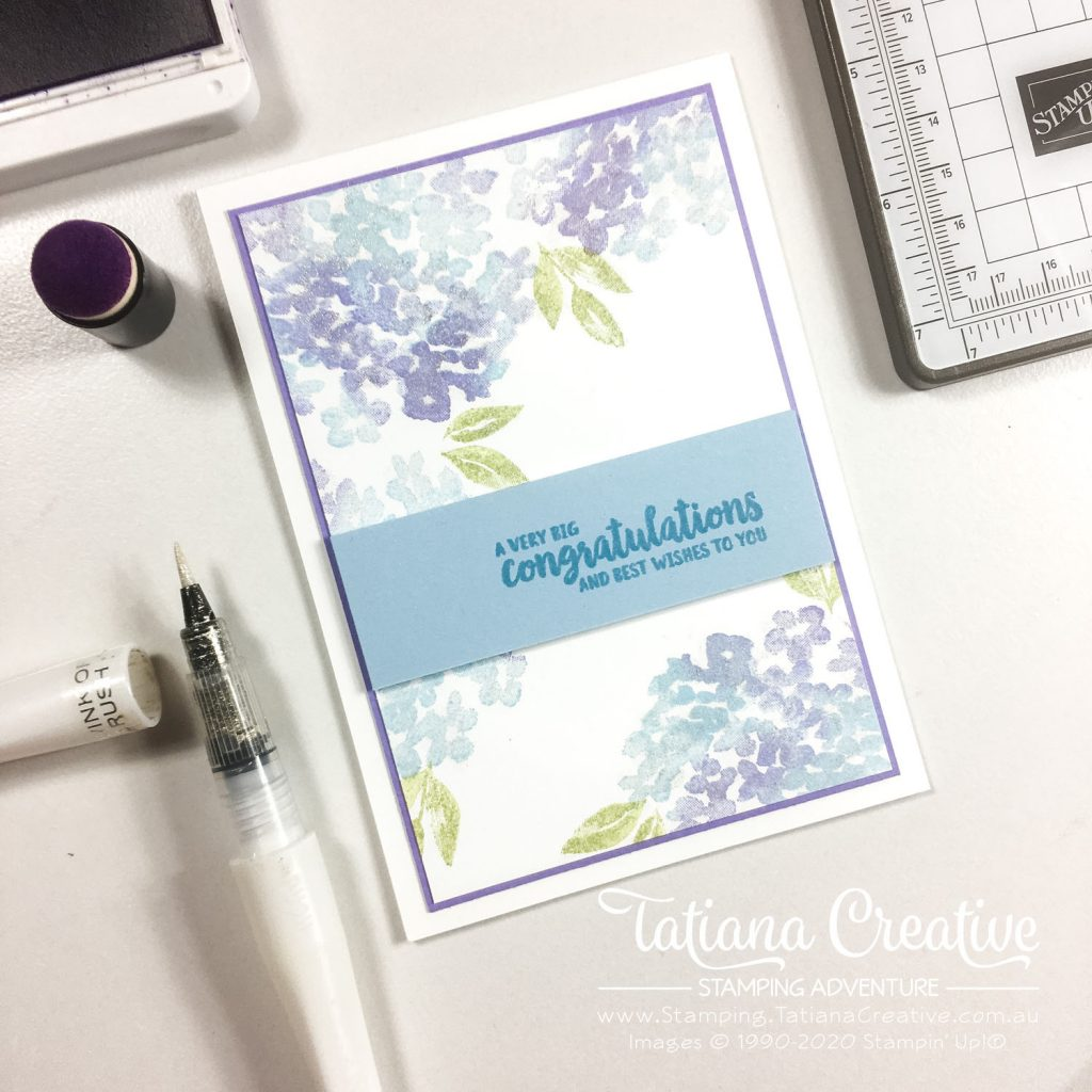 Tatiana Creative Stamping Adventure - Hydrangea Housewarming card using Beautiful Friendship stamp set by Stampin' Up!®