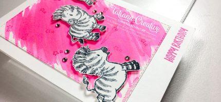 Magenta Birthday Zebras
