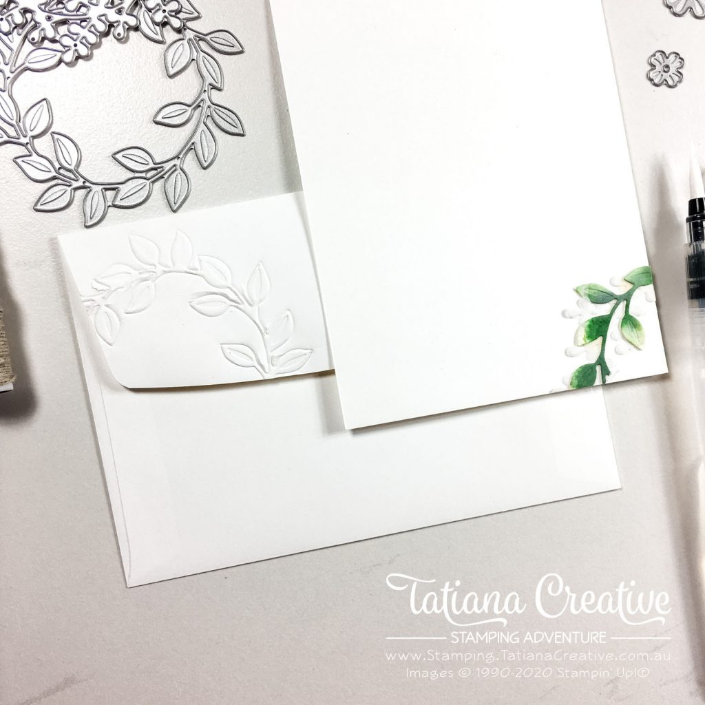 Tatiana Creative Stamping Adventure - Watercolour Wreath Celebratory card using Wreath Builder Dies from Stampin' Up!®