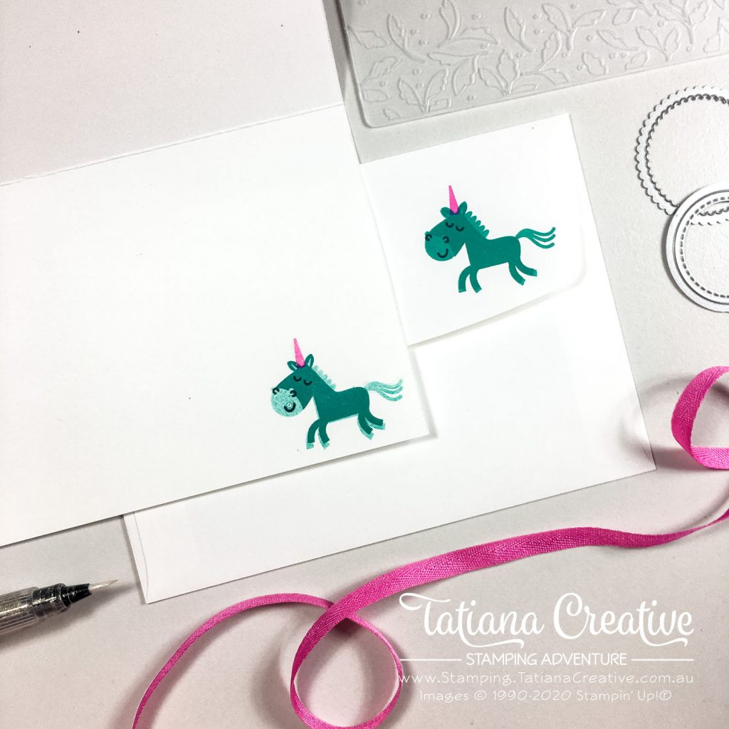 Tatiana Creative Stamping Adventure - Unicorn Card using Hippo Happiness Stamp Set from Stampin' Up!®
