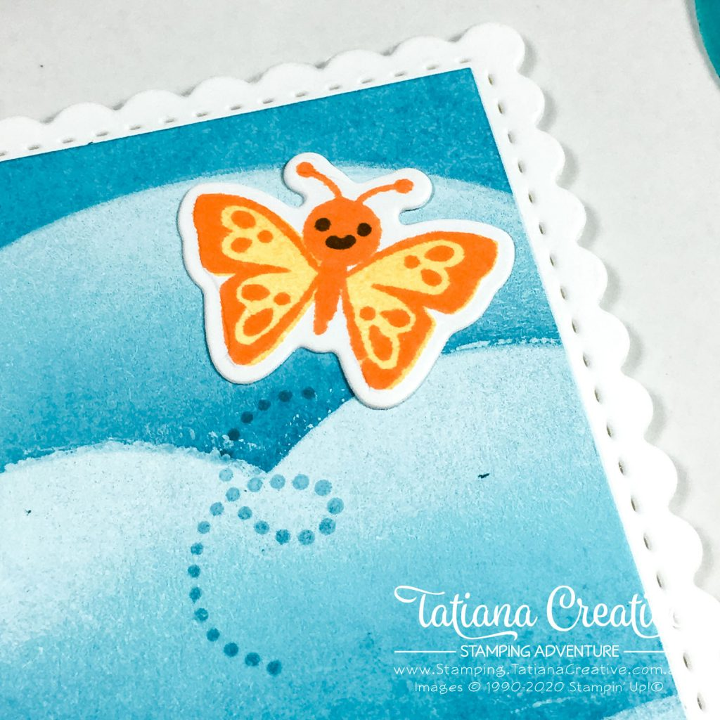Tatiana Creative Stamping Adventure - Scalloped Rectangle Butterfly card using Hippo Happiness Stamp Set from Stampin' Up!®