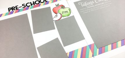 Using Up Scraps in Scrapbooking School Day Page Layout