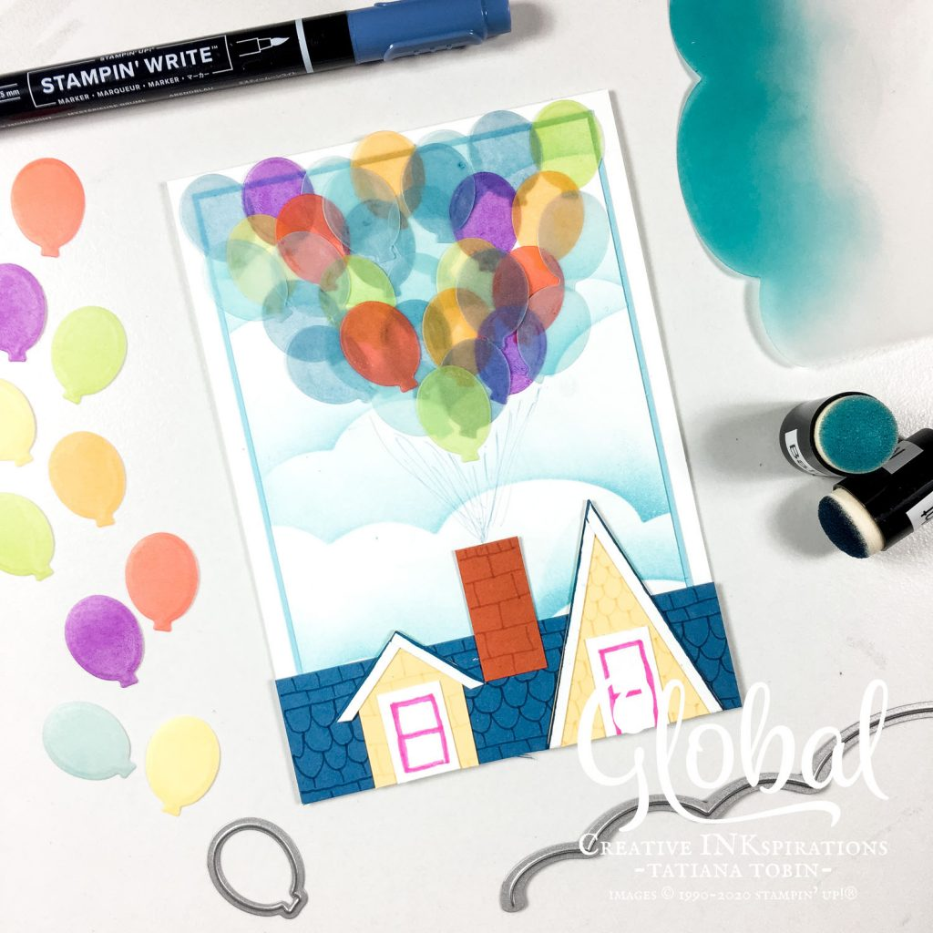 Tatiana Creative Stamping Adventure - Up inspired card using Happy Dies from Stampin' Up!®