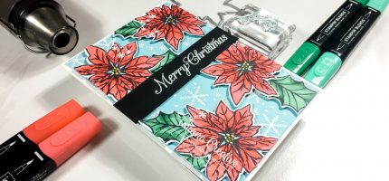 Creativity Time – Snowflake Poinsettia Christmas Card