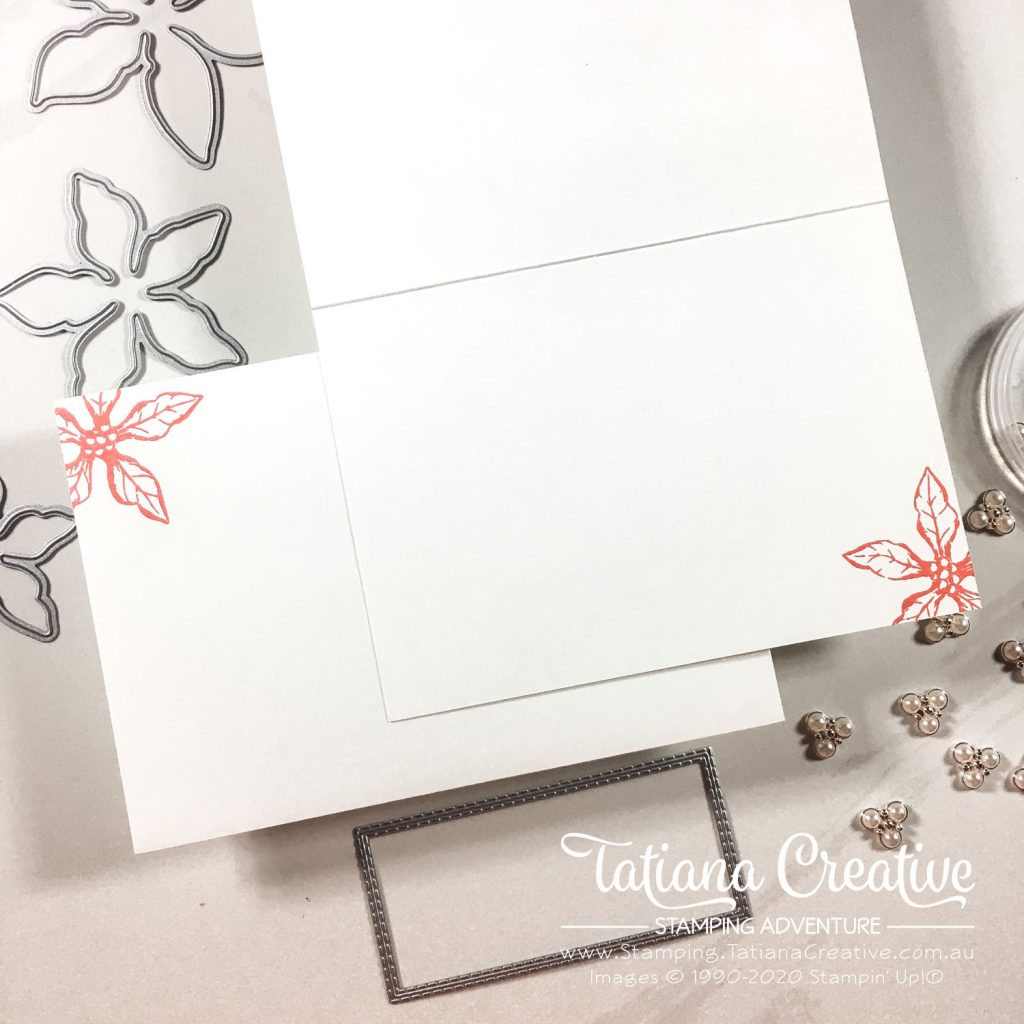 Tatiana Creative Stamping Adventure - Poinsettia Christmas Thanks Card using Poinsettia Petals bundle from Stampin' Up!®