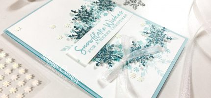 Snowflake Wishes Wreath Christmas Card