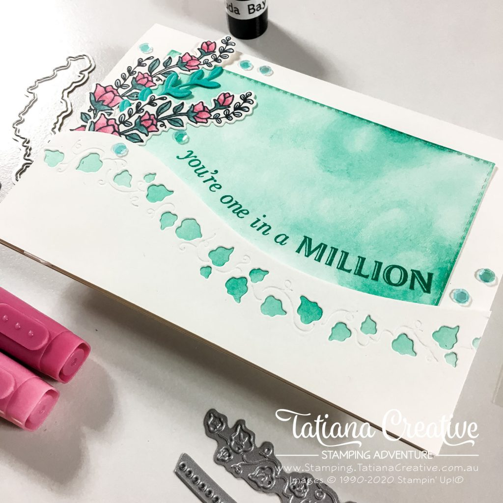 Tatiana Creative Stamping Adventure - One in a Million card using Quite Curvy Bundle from Stampin' Up!®