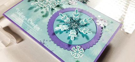 Snowflake Wishes Interlocking Gate Fold Card – Fantastic Fun Folds