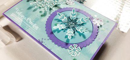 Snowflake Wishes Interlocking Gate Fold Card – Fantastic Fun Folds