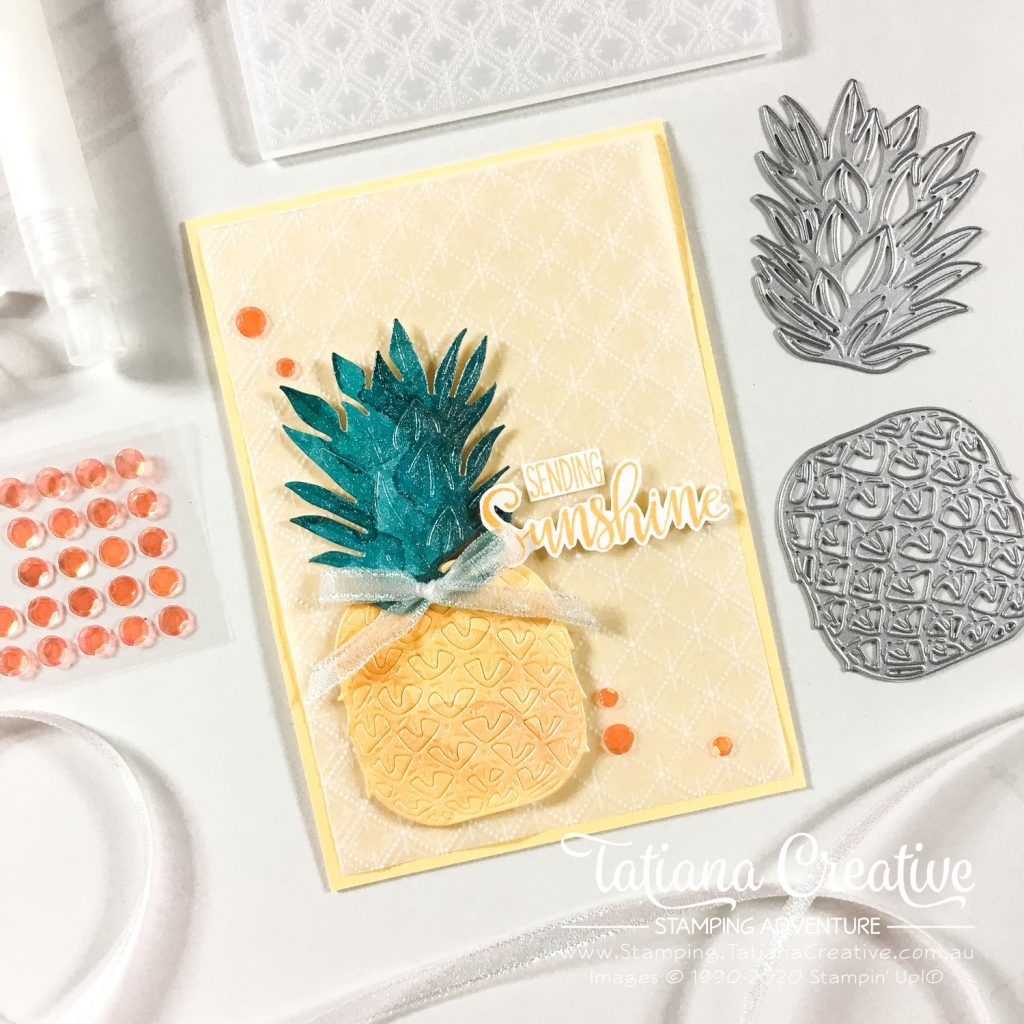 Tatiana Creative Stamping Adventure - Box of Sunshine Paper Pumpkin stamp set combined with In The Tropics Dies both from Stampin' Up!®