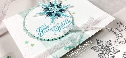 Snowflake Wishes Sparkle Christmas Card