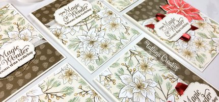 Poinsettia Place DSP One Sheet Wonder Christmas Cards