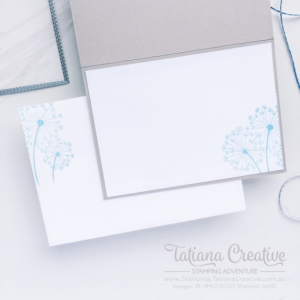 Tatiana Creative Stamping Adventure - Dandelion Thank You card using Dandelion Wishes stamp set from Stampin' Up!®