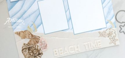 Sand & Sea Suite Scrapbooking Page