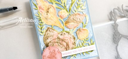 Water Coloured Seashells 3D Embossing Folder
