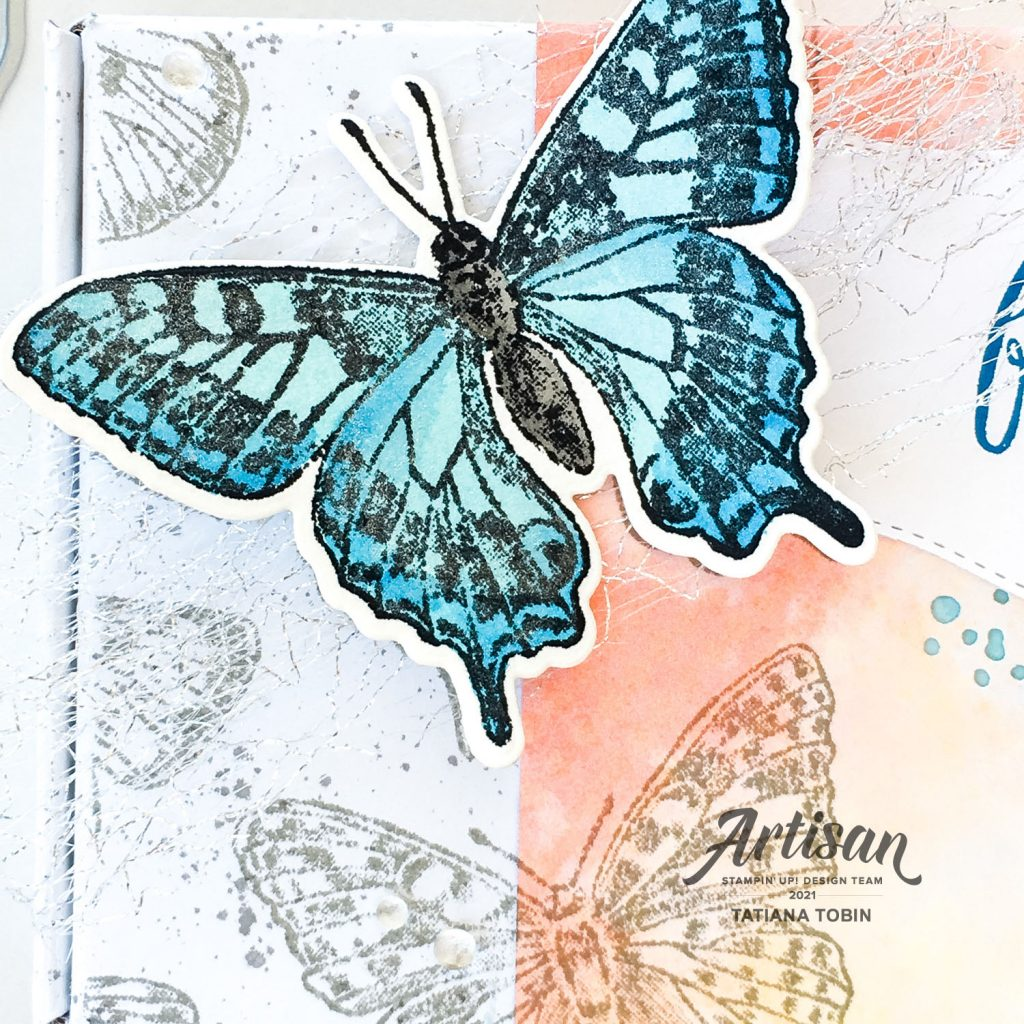 Tatiana Creative Stamping Adventure 2021 - Artisan Design Team Butterfly Bouquet Showcase using the Butterfly Brilliance stamp set, Brilliant Wings Dies, & Butterfly Bijou DSP all from Stampin' Up!®