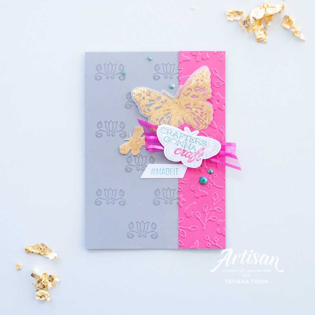 Tatiana Creative Stamping Adventure 2021 Artisan Design Team Member - Fun Craft themed cards using Butterfly Brilliance and Handmade For You stamp sets both from Stampin' Up!®